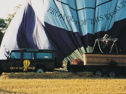 The Out Of This World balloon recovery vehicle