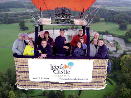 Flight over Leeds Castle, Kent