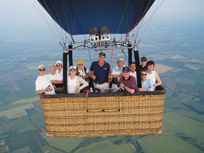The Out Of This World Balloon flying over the Kent Countryside